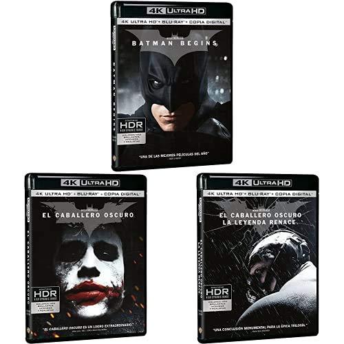 Pack Caballero Oscuro - Incluye Batman Begins + El Caballero Oscuro + El Caballero Oscuro: La Leyenda Renace 4k UHD Blu-ray: Amazon.es: Cine y Series TV