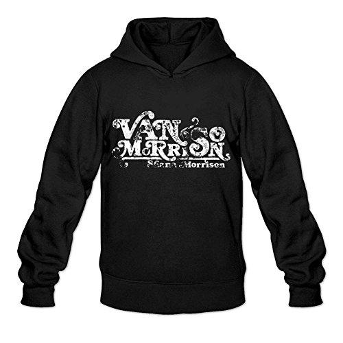Annehoney Van Morrison fashion men's Hoodie Sweatshirt Black