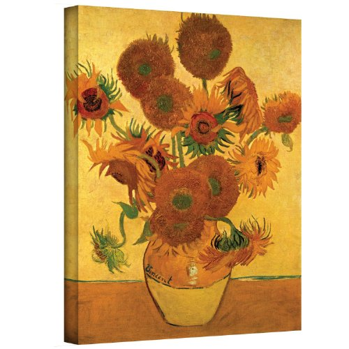 Vase with Sunflowers by Vincent van Gogh Canvas Wall Art 28x38in
