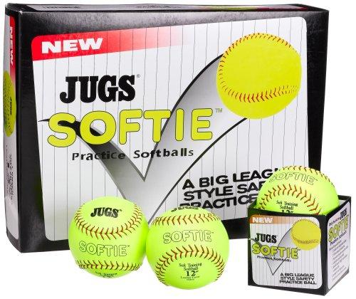 Jugs Softie 12-Inch Softballs (One - Slow Pitch Softball Machines
