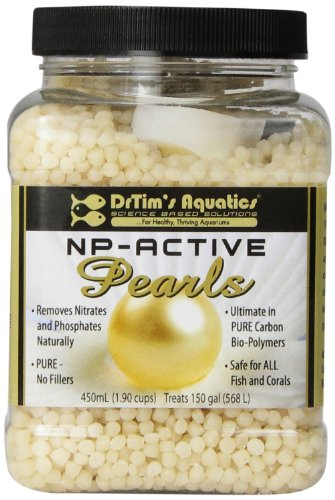 (DrTim's Aquatics All-Natural Aquarium Pearls, 450mL - Removes Algae, Controls Nitrate & Phosphate -  Bio Pellets 100% Safe for ALL Aquariums)