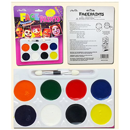 INGLY Face Paint DIY Painting Makeup for Party Birthday Ball Dancing Game Halloween Kits (8 (Halloween Games Diy)