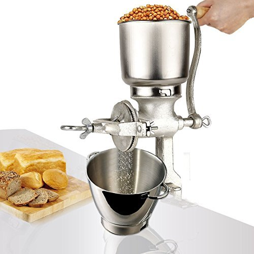 Corn Wheat Grinder Cast Iron Big Hopper Grain Manual Grinder Home Commercial New by Electric California