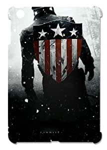 Captain America Cool Design Hard Protective 3D iPad Mini Case by eeMuse