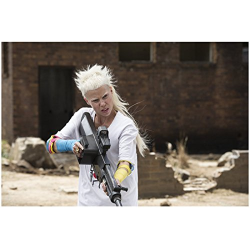 Chappie-Yo-landi-Visser-from-Die-Antwoord-Holding-Weapon-Ready-to-Fight-8-x-10-Photo