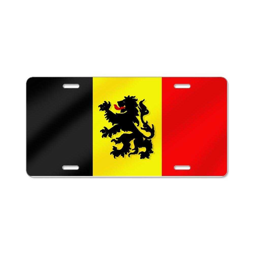 /aluminio placa de licencia frontal Placa de Licencia CafePress dise/ño de bandera de Rampant Lion belga/ tocador etiqueta