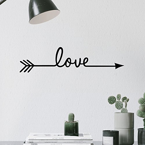 TRAHOME Fashion Love Arrow Decal Living Room Bedroom Vinyl Carving Wall Decal Sticker for Home Decoration (Love -