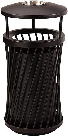 Basura y reciclaje Papeleras Contenedor de basura de metal retro creativo Contenedores Jardín Parque Patio en / Cubos de basura al aire libre Papelera Canasta Almacenamiento Reciclar Papelera de basur: Amazon.es: Hogar
