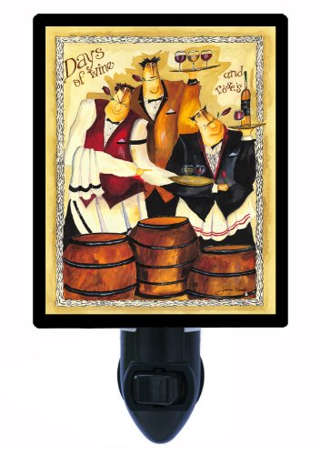 Night Light, Days of Wine, Italian Chef and Wine, Waiters LED Night Light