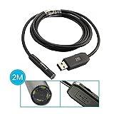 DBPOWER 2M/6.5Ft 10mm Mini Waterproof Pipe Cam Endoscope USB Borescope Inspection Snake Camera