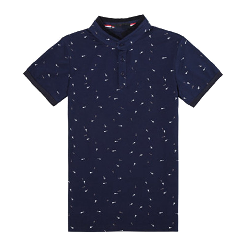 ZFADDS Summer Stand Collar Polo Shirt Men Short Sleeve Casual Men Shirts Slim Fit Polo Homme Cotton