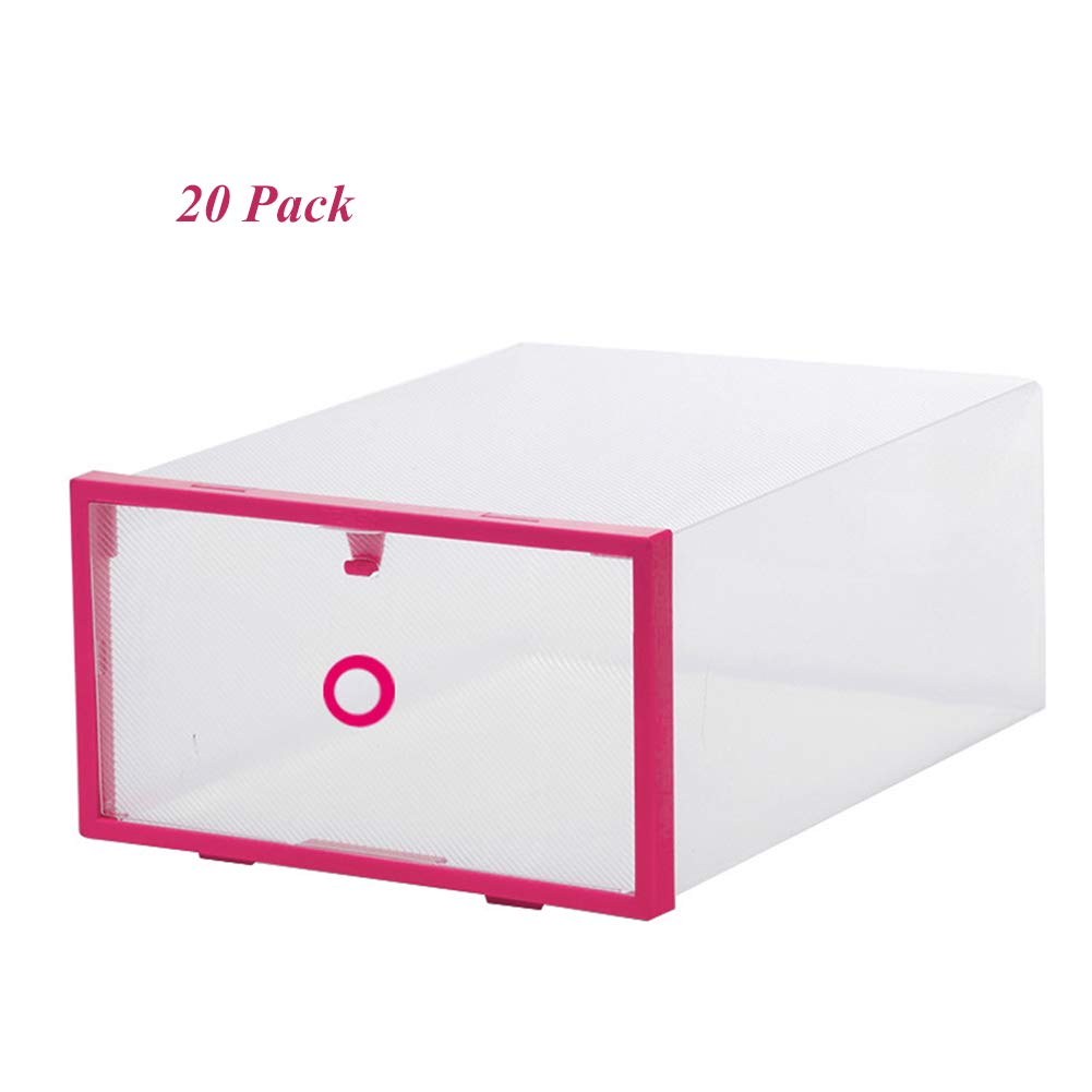 SXLJL shoes Box 20 Set Storage Folding Plastic Clear Box Drawers Suitable For Storing Family Object