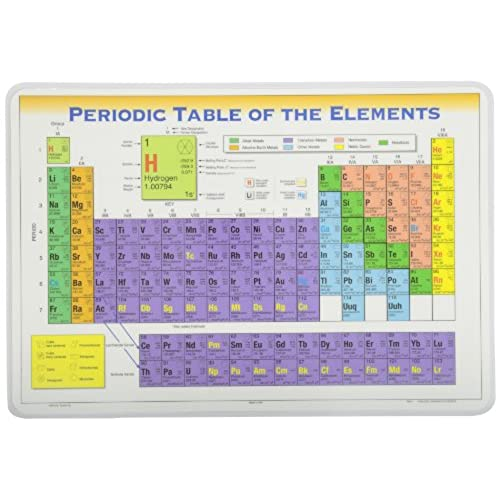 Periodic table elements amazon painless learning periodic table placemat by painless learning urtaz Image collections