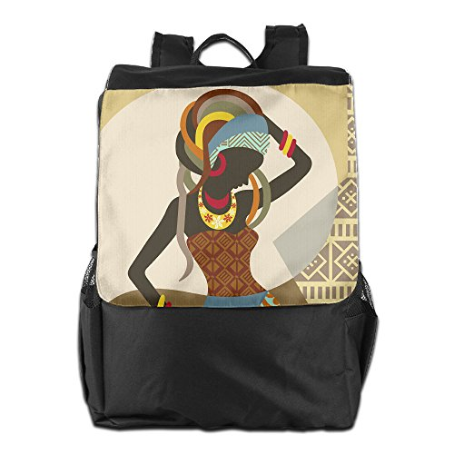 African Art Women Unisex Casual Hiking Bag