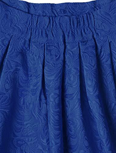 taille fleurs jacquard Allegra Bleu K haute plisse Jupe en Femme et ample SqqgxXB1