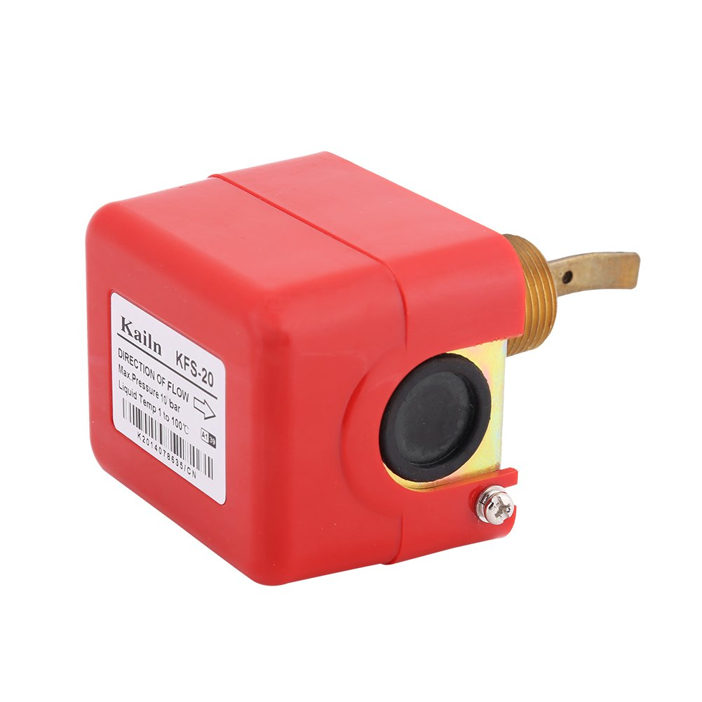 Akozon SPDT R3/4 Liquid Water Oil Sensor Control Automatic Paddle Type Flow Switch 15A 250V IP54