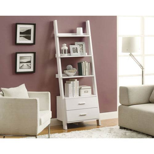 Hawthorne Ave Bookcase - 69H / White Ladder with 2 Storage Drawers from Hawthorne Ave