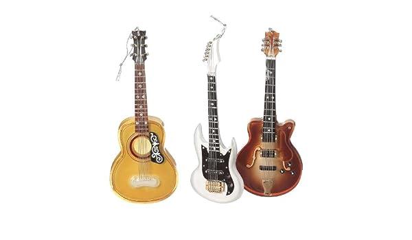Juego de 3 adornos de guitarra eléctrica y acústica: Amazon.es: Hogar