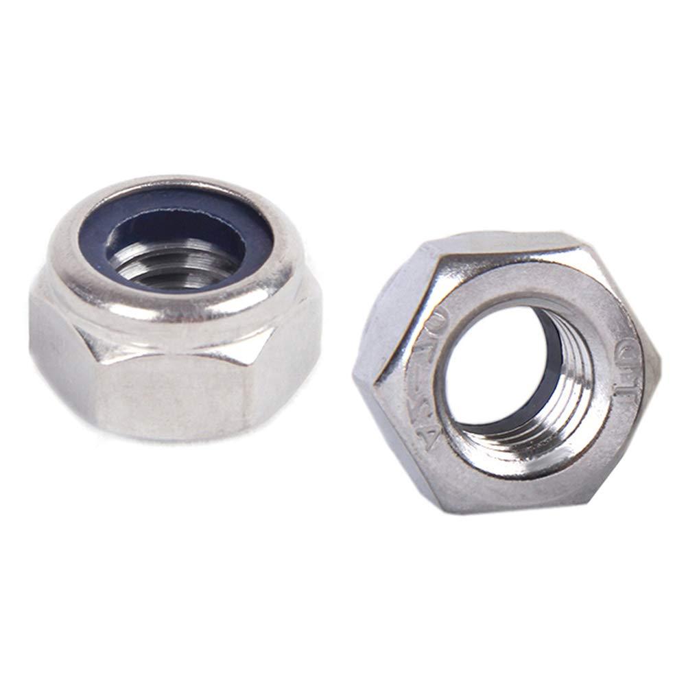 50pz Anti-inserto Nylock 304 acciaio inossidabile autobloccanti inserto di bloccaggio nylon esagonale dadi di bloccaggio XFentech M8 di nylon dadi di bloccaggio
