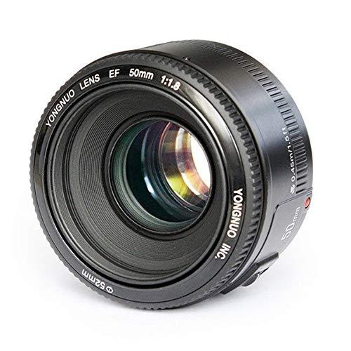 KANEED カメラレンズ レンズアクセサリー YONGNUO YN50MM F1.8C F1.4 uto Canon EFマウントレンズのフォーカスレンズ カメラアクセサリー (色 : Black) B07PJ78LMH  Black