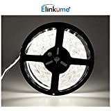 Elinkume 10M Bande Flexible 60 SMD 5050 Bande Flexible Blanc Froid Bandes LED Flexibles DC12V LED(SMD) Strip