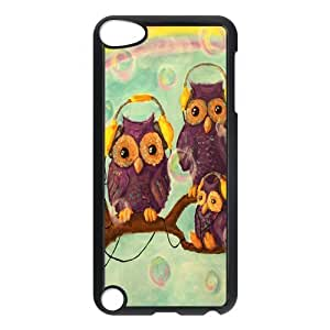 Custom Hipster Owl Back Cover Case for ipod Touch 5 JNIPOD5-286