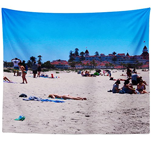 (Westlake Art - Coronado Beach - Wall Hanging Tapestry - Picture Photography Artwork Home Decor Living Room - 68x80 Inch (81F24))