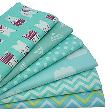 10pcs//lot 15.7x19.7 Stars and Zig Zag Printed Fat Quarters Fabric Bundles,Quilting Fabric for Sewing Crafts