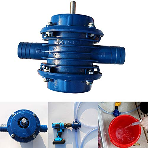 ?Centrifugal Pump, Maserfaliw Heavy Duty Home Garden Hand Drill Electric Self Priming Centrifugal Water Pump - Blue, A Must-Have Tool For Home, Can Be Used As A Holiday Gift.