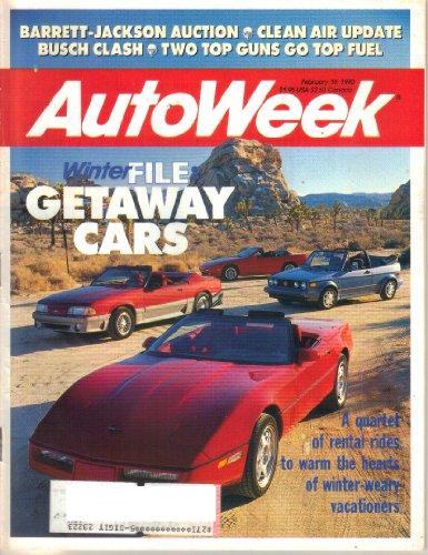 AutoWeek Magazine, Vol. 40, No. 8 (February 19, 1990) (ISSN 0192-9674)