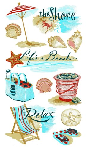 Sticko 52-00301 at The at The Shore 1 Sheet Stickers, Multicolor