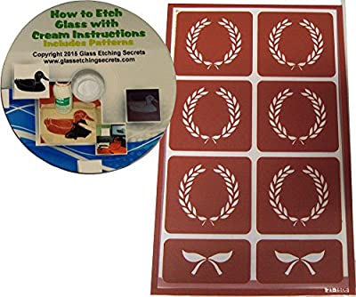 Crest & Stencil Wreath, Reusable for Etching or Painting + How to Etch CD & Patterns