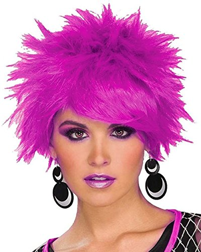 Forum 80's Pop Pixie Wig, Purple, One Size (Fancy Dress 80s Style)