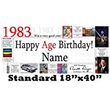 1983 35th Birthday Personalized Banner by Partypro