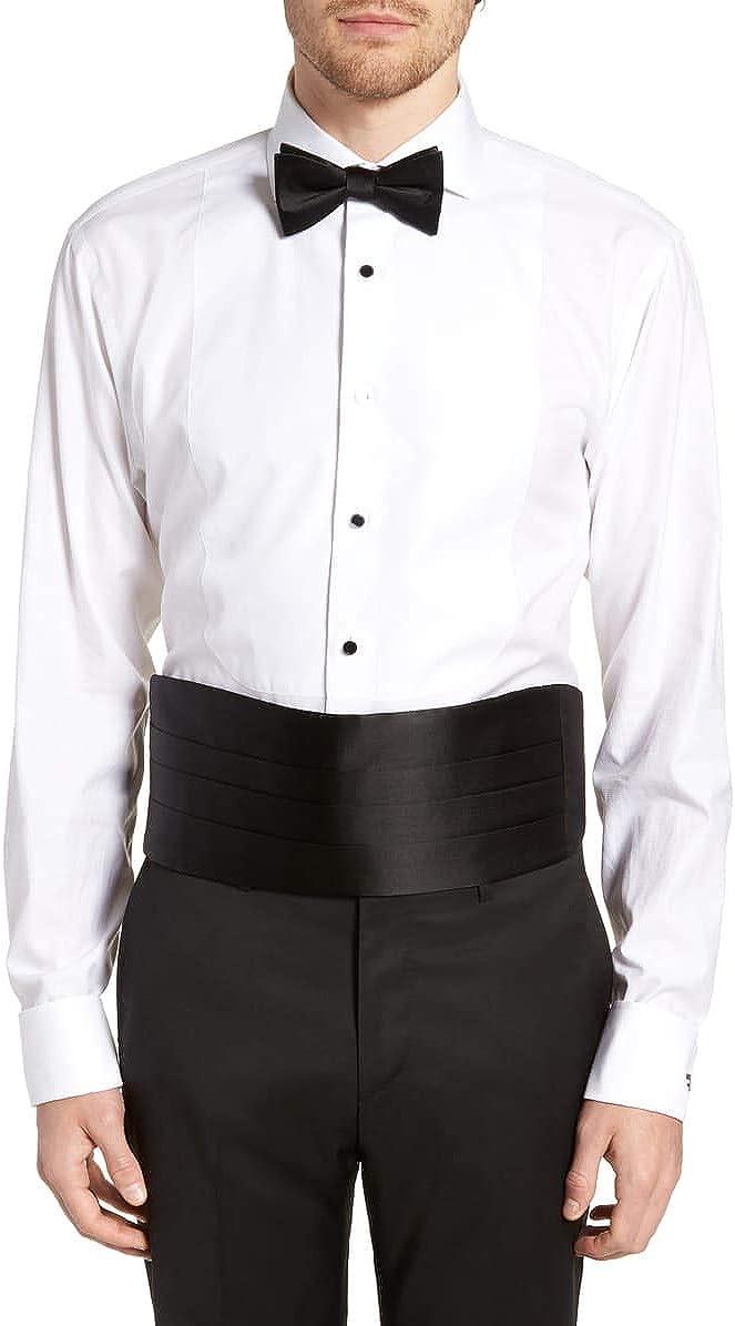 Silk Cumberbund & Bowtie Black Mens Cummerbund & Bow Tie Set