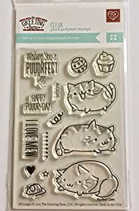 The Greeting Farm - Purfect Cats Clear Stamps