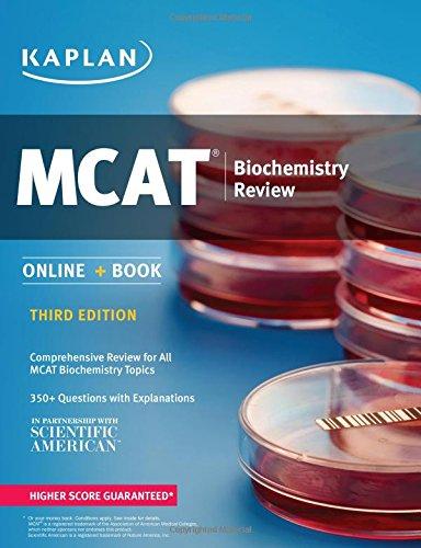 MCAT Biochemistry Review: Online + Book (Kaplan Test Prep)