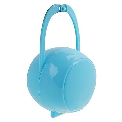 Portátil Caja De Chupetes Chupete Pezón Soporte Para Niño Muchacho Bebé - Azul
