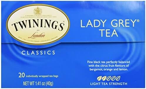 Twinings Lady Grey Tea, Tea Bags, 1.41 oz, 20 ct