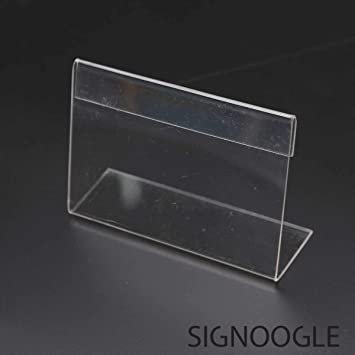 New Clear Angled Price Wedding Table Place Name Label Sign Display Price Holder