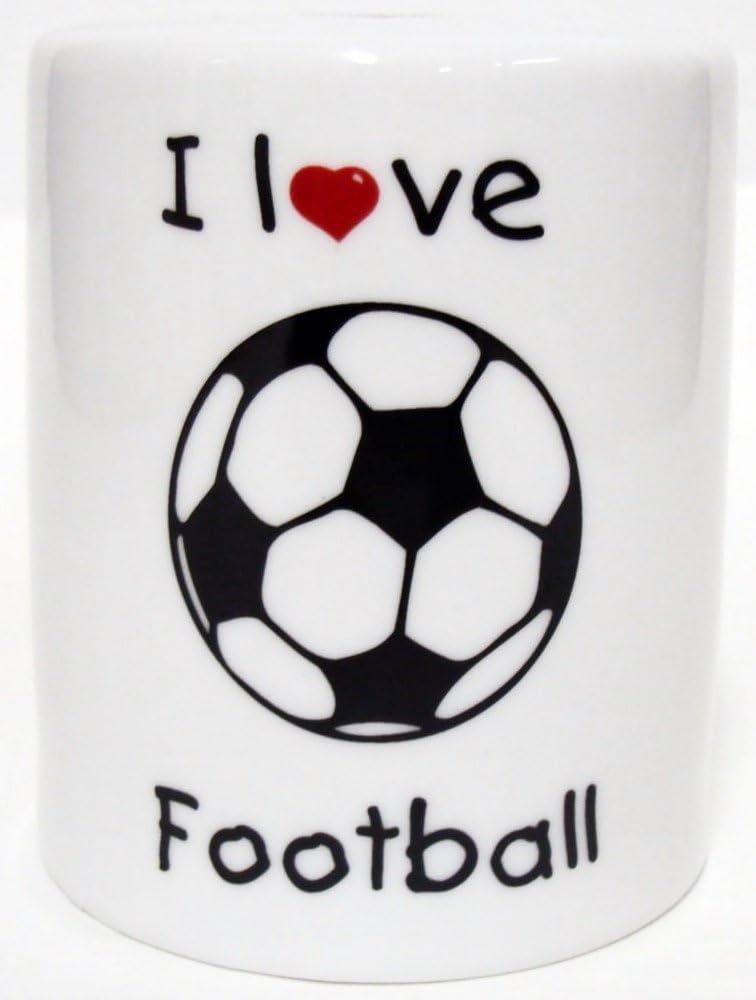 Caja de dinero de cerámica de porcelana de fútbol balón de fútbol ...