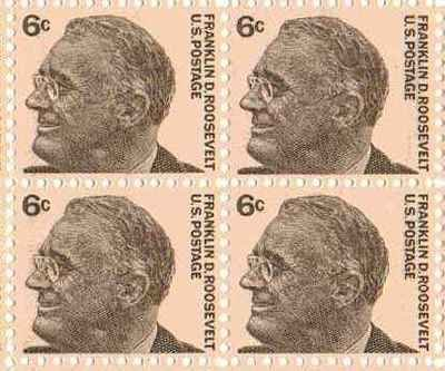 Amazon Franklin D Roosevelt Set Of 4 X 6 Cent US Postage Stamps NEW Scot 1284 Toys Games