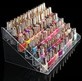 1-Racks Cool Popular New Nails Polish Organizers Stand Art Grids Makeup Display Manicure Holder Color Transparent 6 Tier Style #12