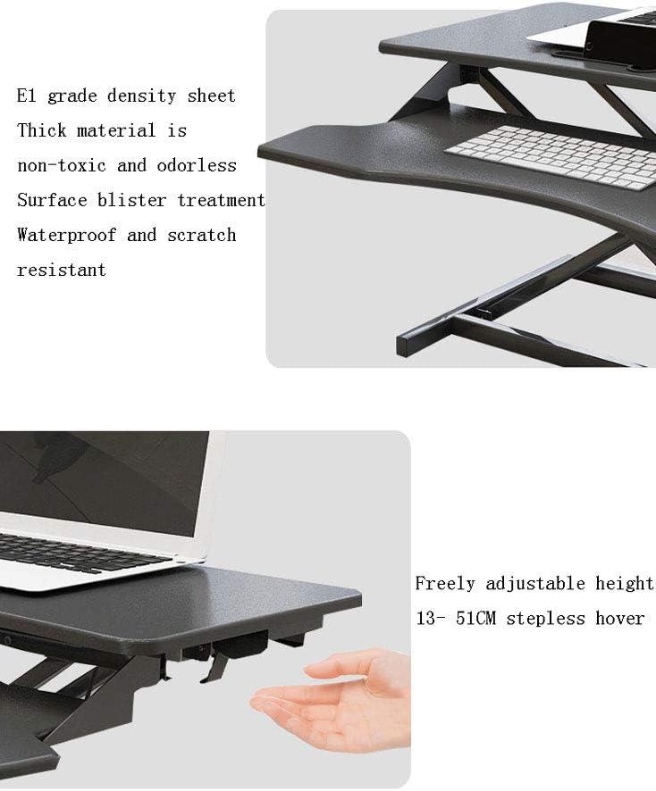 YLOVOW Table pour Ordinateur à roulettes Pliable Portable Hauteur Réglable pour canapé, lit, terrasse, Balcon, Jardin,Blanc Black