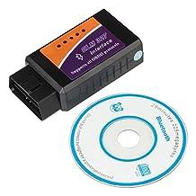 LHZTECH Super Mini Bluetooth OBDII OBD2 EOBD Car Diagnostic Tool Mini ELM 327 Code Reader for Android (Bluetooth D)