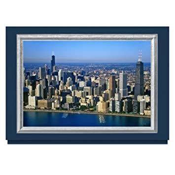 By The Gallery Collection Chicago Skyline Christmas Card 25 Premium Greeting Cards With Foiled