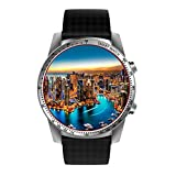 Smart Watch 3G Android Bluetooth Smartwatch with Heart Rate Pedometer Activity Tracker for Android and IOS Phones WIFI Supported GPS Navigation Smart Watches (Silver)