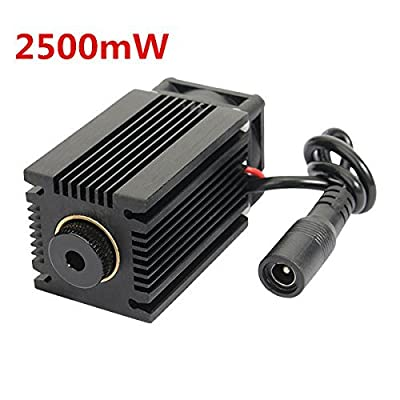 Xiangtat LA03-2500 445nm 2500mW Blue Laser Module With Heatsink For DIY Laser Engraver Machine