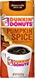 Dunkin' Donuts Pumpkin Spice Flavored Ground Coffee, Seasonal Limited Time, 11 Ounce (Pack of 6)