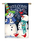 Evergreen Enterprises 13S3556 Snowman Welcome Garden Flag For Sale